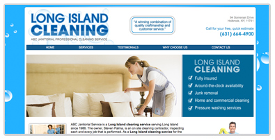 website design long island cleaning service